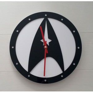 Star Trek: reloj de pared en metacrilato.
